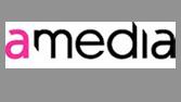Logoen til amedia.