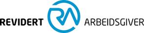 Horisontal versjon av logoen til Revidert Arbeidsgiver.
